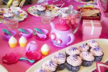 Little Girl Pink Tea Party