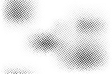 Black White Dotted Halftone Background. Messy Halftone Pattern.