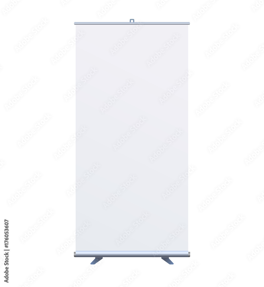 Fototapety, obrazy: Roll Up Banner Stand on isolated clean background7