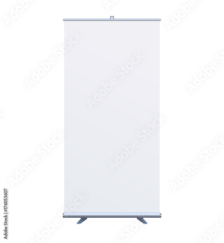 Photo Roll Up Banner Stand on isolated clean background7