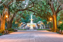 Savannah Georgia Fountain