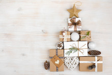 Christmas Gifts In Shape Of Fi...