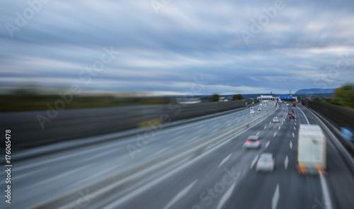 Fototapeta ruchliwie autostrada