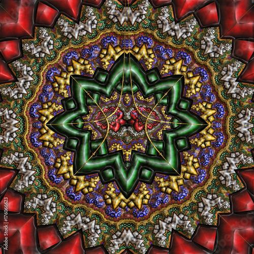 Fototapeta 3D ilustracja - abstrakt kwiecisty ornament