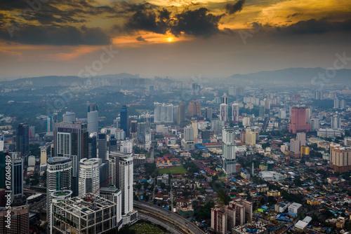 Fotografia, Obraz  Kuala Lumpur at dusk