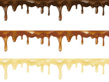 Realistic Vector Set Of Melted...