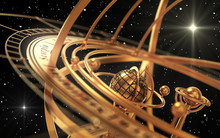 Armillary Sphere And Stars On ...