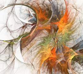 Colorful fractal twirl