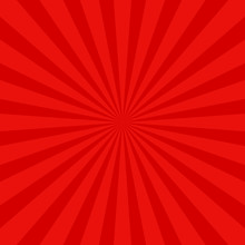 Red Retro Abstract Sun Ray Background - Vector Graphic Design With Radial Rays