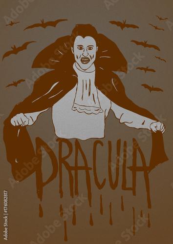Fotografie, Obraz  Count Dracula vintage