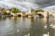 canvas print picture - 15th century bridge, St Ives