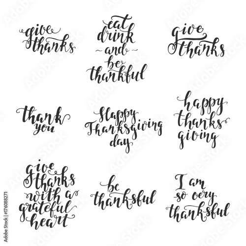 Obraz na plátně  Thanksgiving day lettering