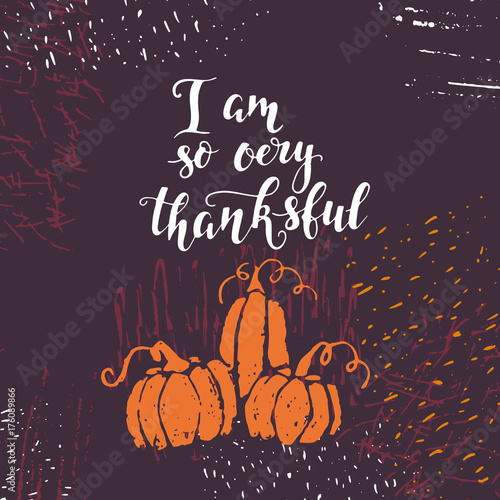 Obraz na plátně  Thanksgiving day lettering