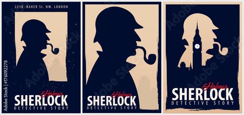Photo Set of Sherlock Holmes posters