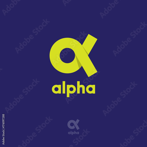 Alpha Logo Wallpaper Mural