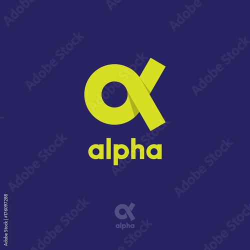 Alpha Logo Canvas Print