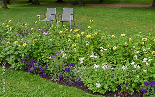 Plakat Kwiaty w parku