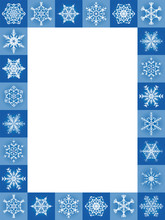 Snow Flakes Blue Christmas Fra...