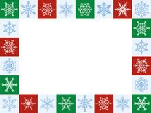 Snowflakes Christmas Frame, Ho...