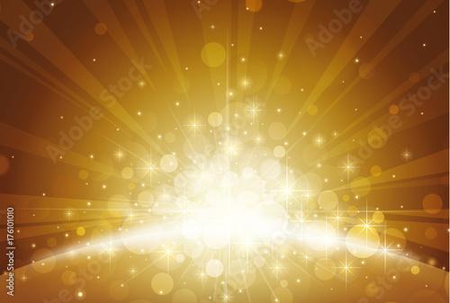 Obraz ゴールデン アブストラクト 背景 素材 - fototapety do salonu