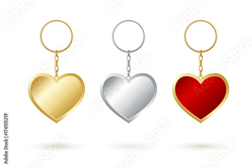 Heart shape keychain collection Canvas Print