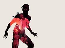 Fleshing Eating Dead Zombie Silhouette. Vector Illustration