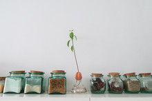 Glass Jars With Food
