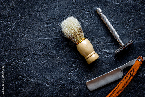 Fotografie, Obraz  Tools for cutting beard barbershop top view