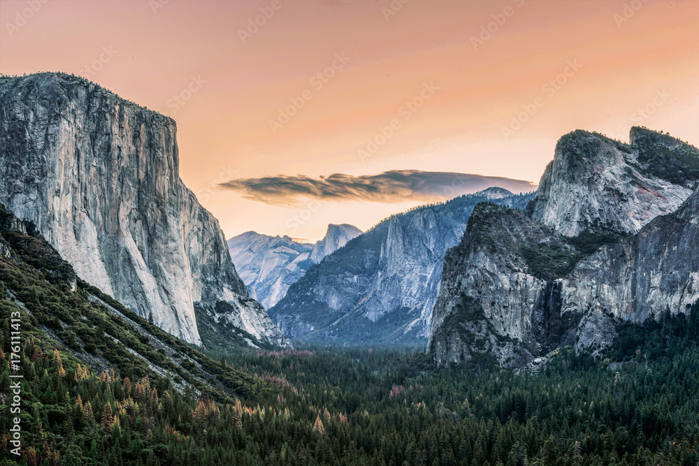 Tunnel View at Sunrise Poster