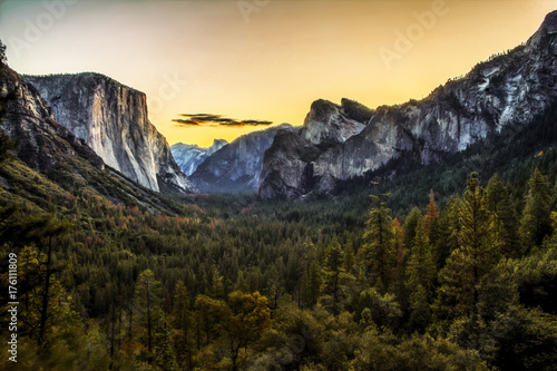 Tunnel View at Sunrise Canvas Print