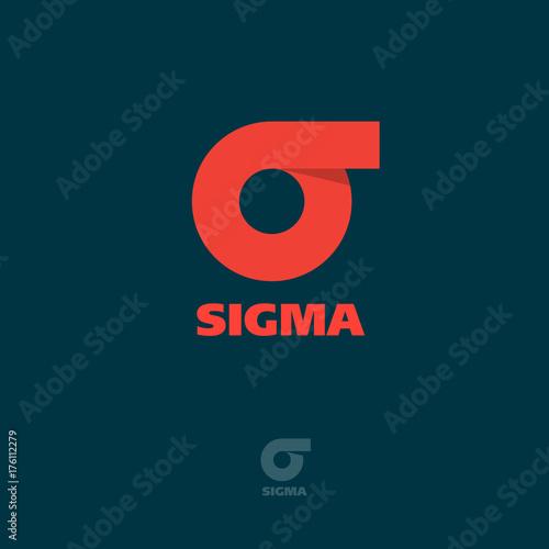 Fotografie, Obraz  Sigma flat logo