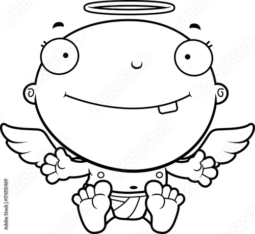 In de dag Cartoon draw Cartoon Baby Angel Smiling