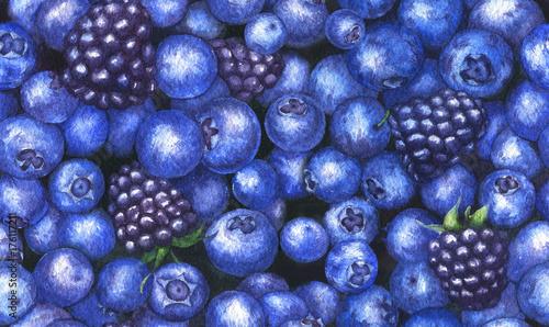 recznie-rysowane-akwarela-powtarzalny-wzor-z-smaczne-jagody-i-jezyny-na-bial