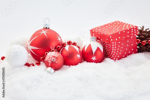 Zdjęcie XXL Tło z dekoracją na Boże Narodzenie