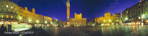 Fototapeta Siena, piazza del Campo a 360°