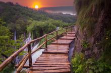 Foggy And Multicolored Dawn Ov...