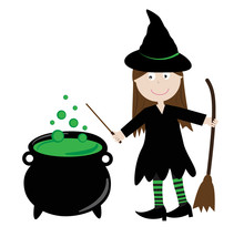 Halloween Witch And Brew
