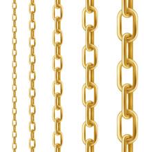 Golden Chain. Set Of Seamless ...