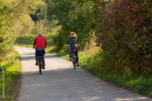 Fotografie, Obraz Promenade à bicyclette