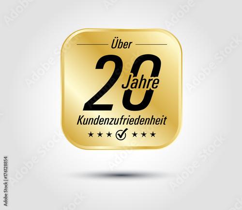 Photo 20 Jahre Kundenzufriedenheit gold icon