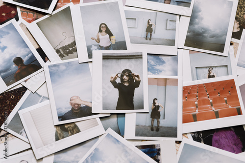 A lot of instant photos