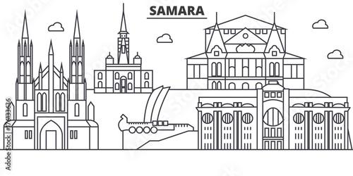 Valokuva  Russia, Samara architecture line skyline illustration