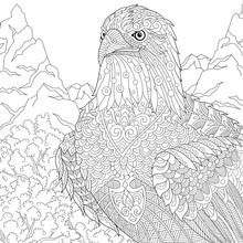Coloring Page Of American Bald...