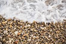 Waves Lap Along The Shore