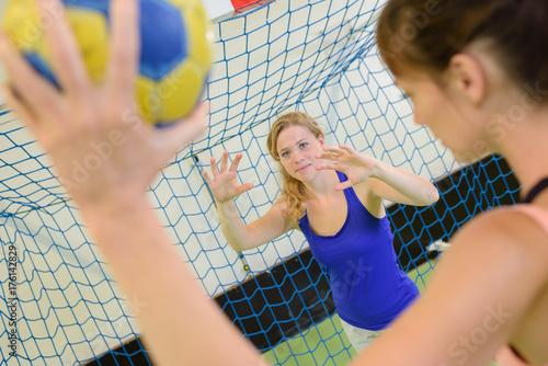 girls playing handball