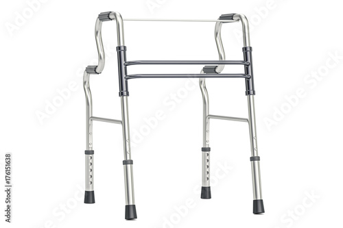 Photo  Walker, walking frame. 3D rendering