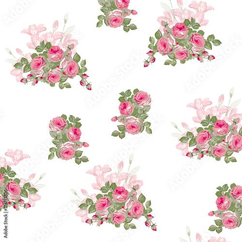 dziewczecy-wzor-rozowych-kwiatkow-na-bialym-tle