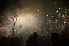 Spark Rain In A Crowded Fire Parade