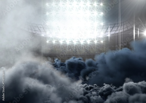 Papiers peints Stade de football american football stadium with smoke