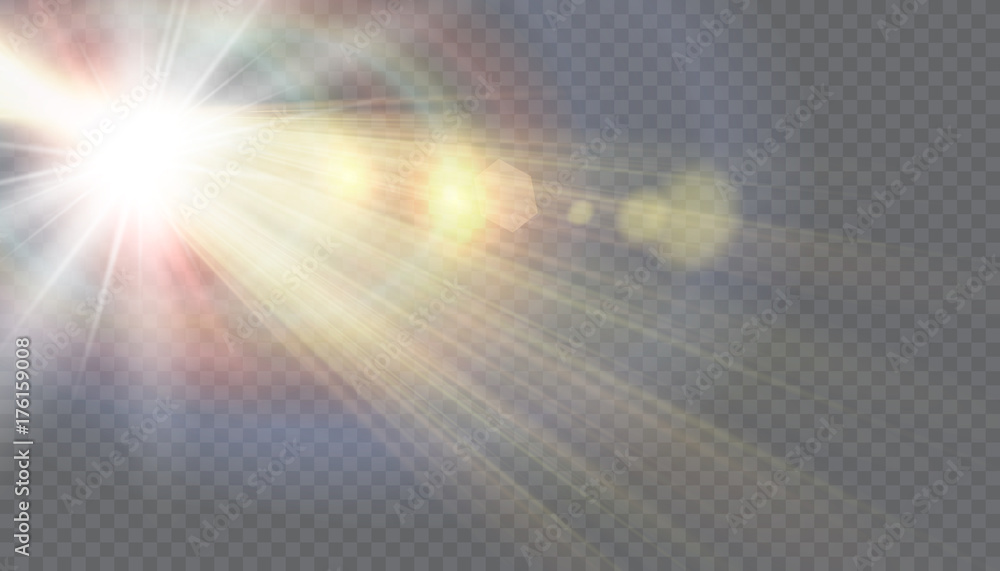 Fototapety, obrazy: Vector transparent sunlight special lens flare